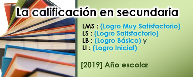 calificacion en secundaria